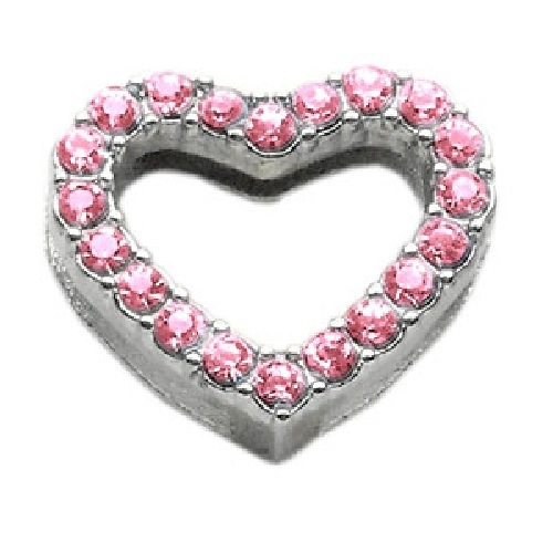 Heart Slider Collar Charm - Pink | The Pet Boutique