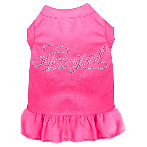 Rhinestone Angel Pet Dress - Bright Pink | The Pet Boutique