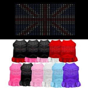 Rhinestone British Flag Pet Dress | The Pet Boutique