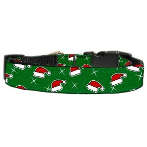 Santa Hat Nylon and Ribbon Dog Collar | The Pet Boutique