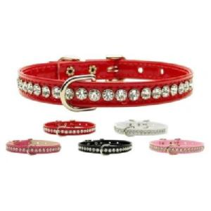 Beverly Patent Jewel Dog Collar | The Pet Boutique
