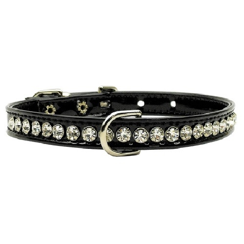 Beverly Patent Jewel Dog Collar - Black | The Pet Boutique