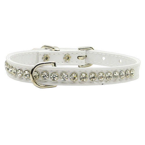 Beverly Patent Jewel Dog Collar - White | The Pet Boutique