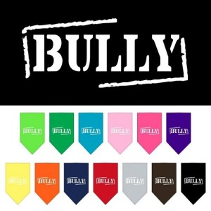 Bully Screen Print Pet Bandana | The Pet Boutique