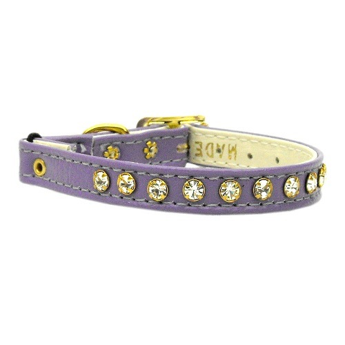 Crystal Cat Safety Collar with Band - Purple | The Pet Boutique