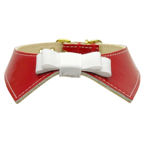 Johnny Shirt Collar Dog Collar - Red | The Pet Boutique