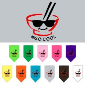 Miso Cool Screen Print Pet Bandana | The Pet Boutique