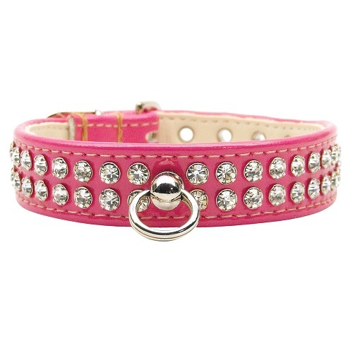 Patent Jewel #72 Dog Collar - Bright Pink | The Pet Boutique