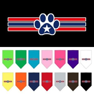 Patriotic Star Paw Screen Print Dog Bandana | The Pet Boutique