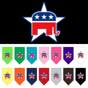 Republican Screen Print Pet Bandana | The Pet Boutique