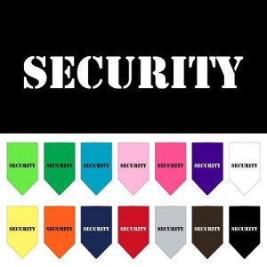 Security Screen Print Pet Bandana | The Pet Boutique