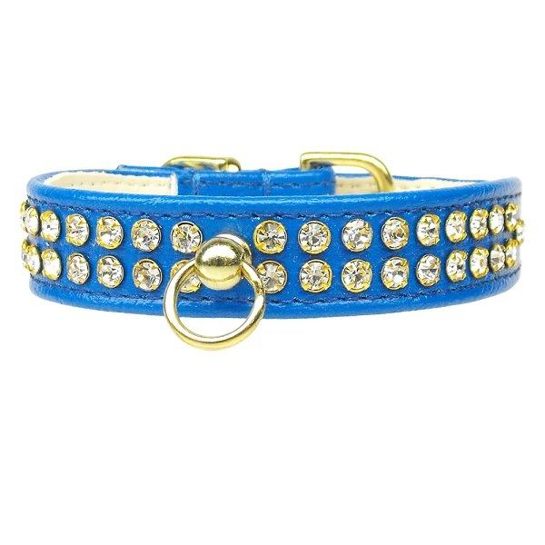 Clear Crystal #72 Dog Collar - Blue | The Pet Boutique
