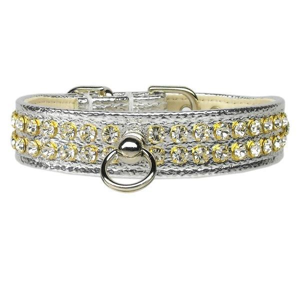 Clear Crystal #72 Dog Collar - Silver | The Pet Boutique