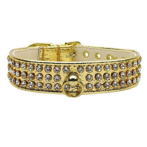 Clear Crystal #73 Dog Collar - Gold   The Pet Boutique