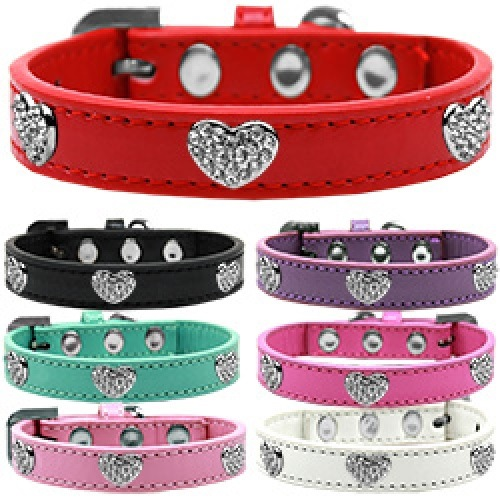 Crystal Heart Dog Collar | The Pet Boutique