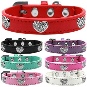 Crystal Heart Dog Collar   The Pet Boutique