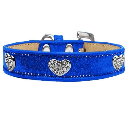 Ice Cream Crystal Heart Dog Collar - Blue   The Pet Boutique