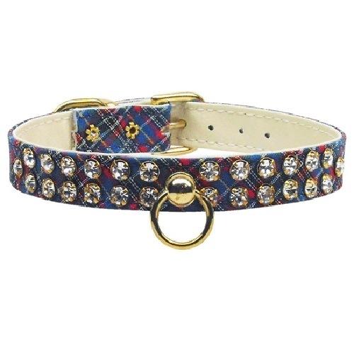 Plaid Dog Collar #31 - Blue | The Pet Boutique