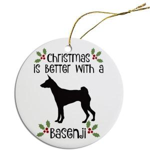 Breed Specific Round Christmas Ornament - Basenji   The Pet Boutique