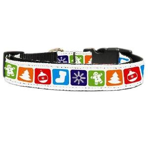 Classic Christmas Nylon and Ribbon Dog Collar | The Pet Boutique