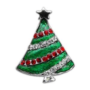 Holiday 10mm Slider Pet Collar Charm - Christmas, Hanukkah Tree | The Pet Boutique