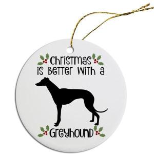 Round Christmas Ornament - Greyhound   The Pet Boutique