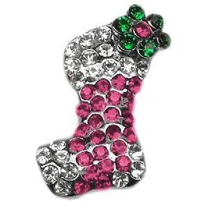 Stocking Pet Collar Charm - Pink | The Pet Boutique