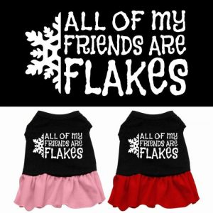 All My Friends Are Flakes Screen Print Pet Dress | The Pet Boutique