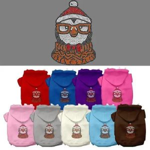 Hipster Penguin Rhinestone Dog Hoodie | The Pet Boutique