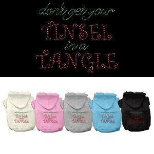 Tinsel in a Tangle Rhinestone Pet Hoodie | The Pet Boutique