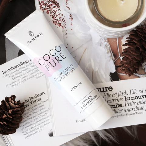 Coco Pure Face Scrub : le gommage au café pour le visage d'HelloBody