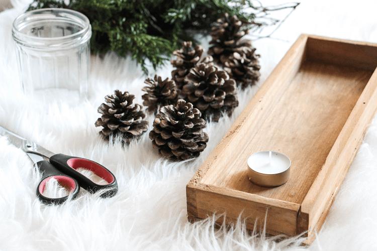 Chemin de table Noël DIY