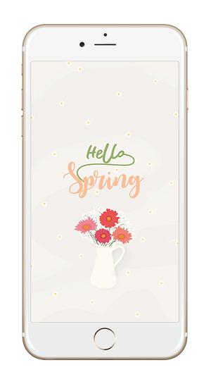 Fond d'écran Hello Spring iPhone