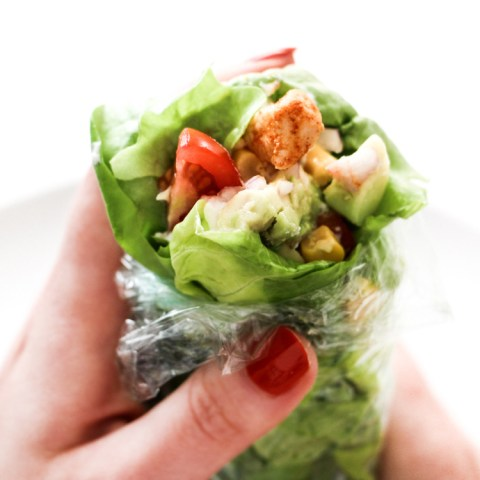 Lunch : un wrap-salade gourmand !