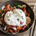Recette salade gourmande burrata