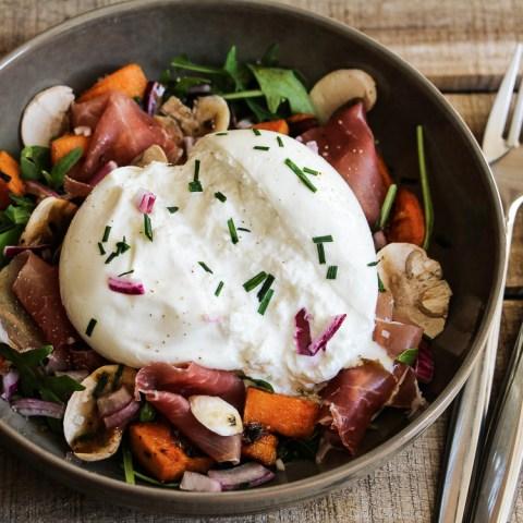 La Burrata & sa salade ultra gourmande