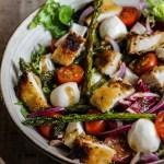 Recette salade poulet pané asperges