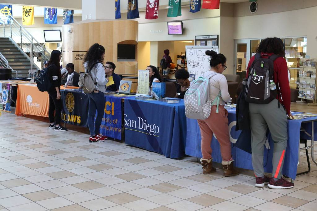 SJCC students at college transfer day.