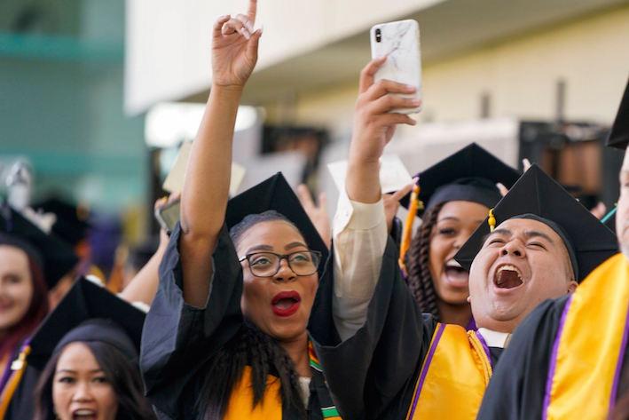 San José City College students celebrate at the Santa Clara Convention Center in 2019.