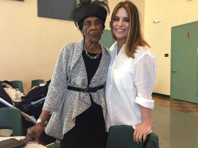 Gina Ronzano (right) at her tenure celebration at SJCC with then retired coworker Ms. Young