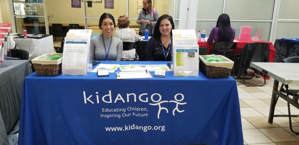 Representatives from Kidango, a preschool provider, visiting the SJCC Early Childhood Education Career Fair, Fall 2019.