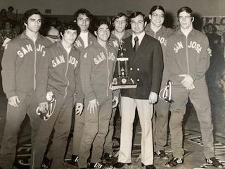 Sam Huerta and SJCC wrestling team late 1960's