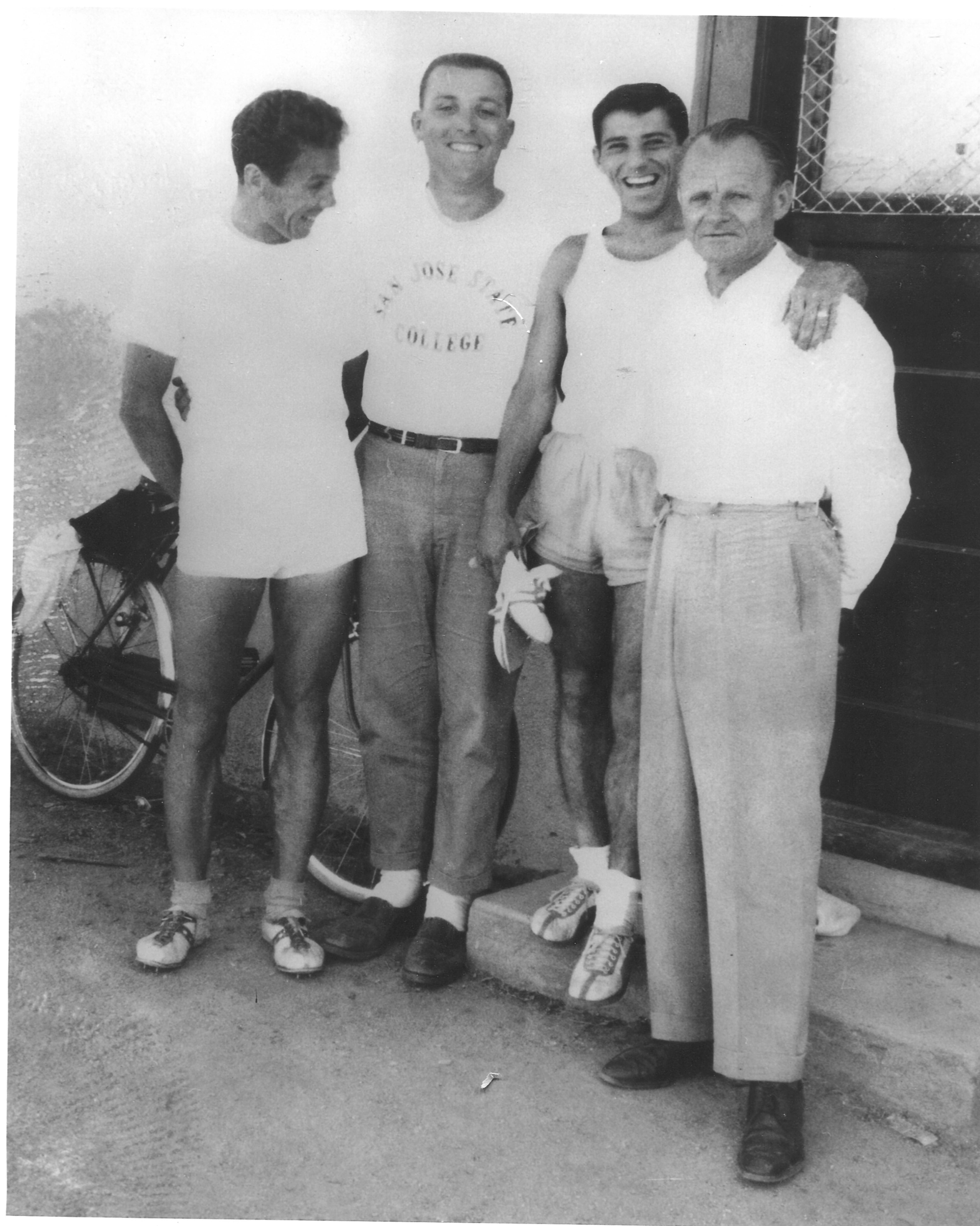 Bonanno with athletes