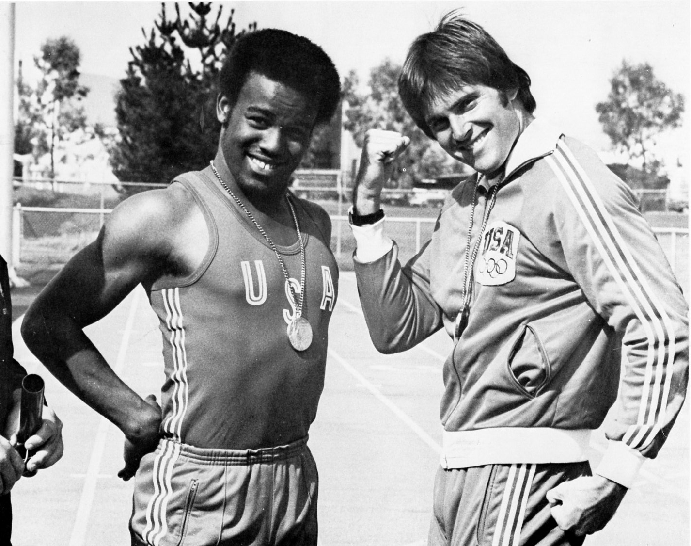 Hampton and Jenner with Olympic Gold medals