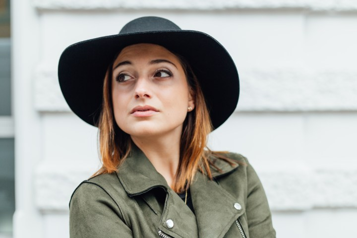 Swiss blogger with autumn outfit