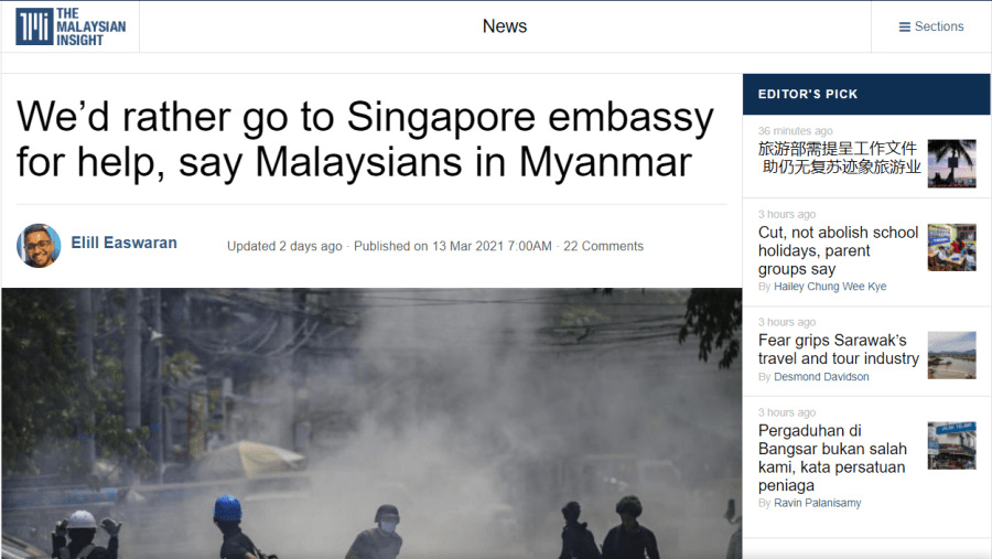 Malaysians in Myanmar