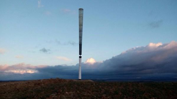 Prototype of the Vortex , the wind turbine without rotor (photo: Vortex Bladeless)
