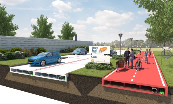 Recycled soda bottles could soon become a lightweight and durable road pavement (photo: VolkerWessel)