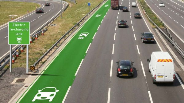 Wireless charging of electric vehicles could soon become reality in the UK (photo: Highways England)