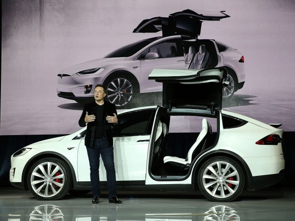 Elon Musk at the Model X launch (photo: Justin Sullivan/Getty Images)